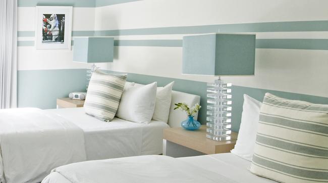Guest room at Sense Beach House.