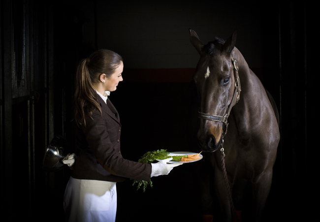Ultimate Horse Check-in at Coworth Park offers equestrian guests home grown carrots.