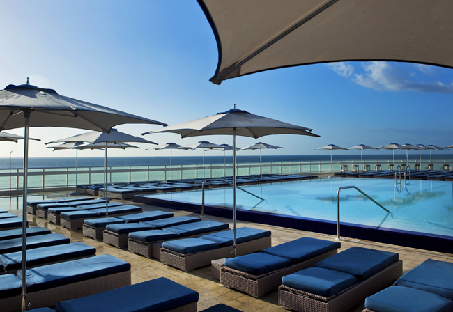 The pool at the W Fort Lauderdale.