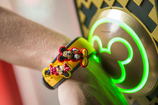 Walt Disney World Resort guests use MagicBands for FastPass+ access to experiences and attractions throughout the theme parks.  (Photo credit Matt Stroshane.)