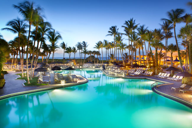 Fort Lauderdale Marriott Harbor Beach Resort's pool.