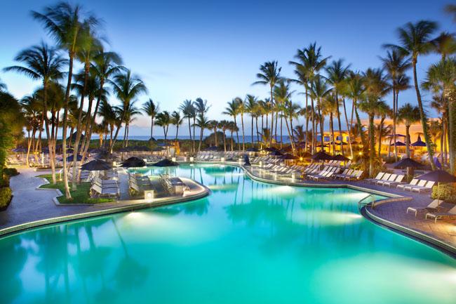 Fort Lauderdale Marriott Harbor Beach Resort's pool.