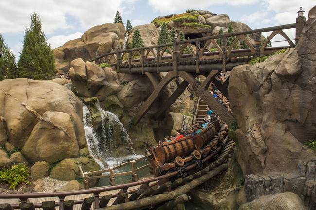 The Seven Dwarfs Mine Train attraction completes New Fantasyland. (Photo credit Matt Stroshane.)