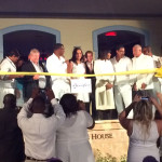 The ribbon cutting ceremony for the Key West Luxury Village.