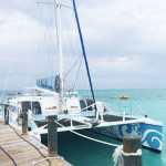 The catamaran takes guests out for an afternoon of snorkeling and water fun, included at Beaches Resorts.