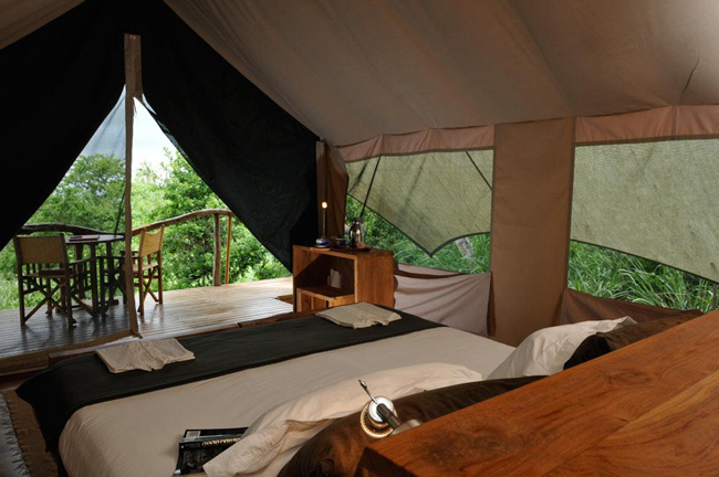 Stay in a safari camp while exploring the Galapagos Islands with Kensington Tours.
