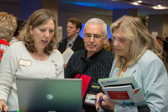Attendees at last year's conference getting hands-on information.