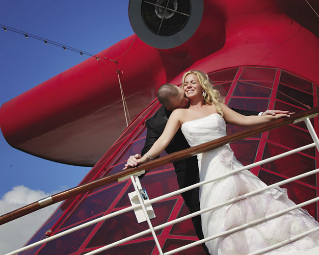 With Carnival, couples can tie the knot both on and off the ship.