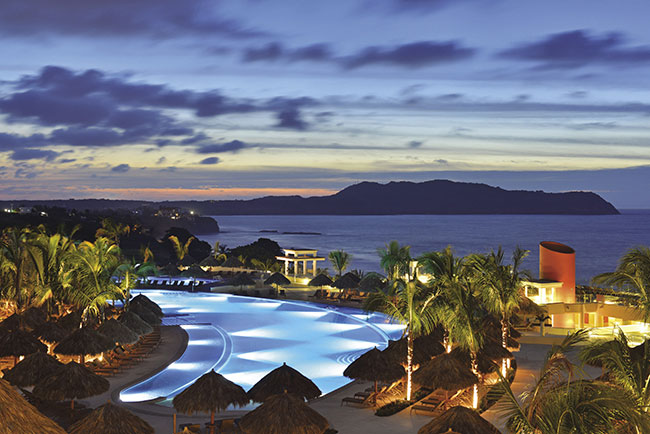 Poolside overlooking the Pacific Ocean