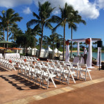 The resort is a popular destination for weddings.