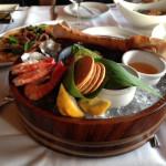 Seafood platter, an ideal starter for beachside dining.