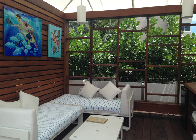 The Guy Harvey Ocean Foundation cabana at The Westin Beach Resort & Spa, Fort Lauderdale.
