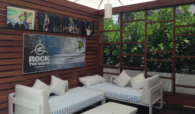 The Rock The Ocean Foundation cabana at The Westin Beach Resort & Spa, Fort Lauderdale.