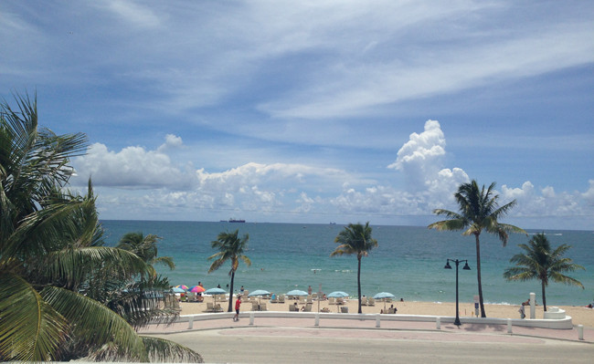 Views of Fort Lauderdale Beach.