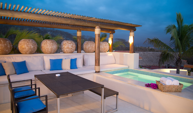 Matlali's 2-bedroom villa with plunge pool.