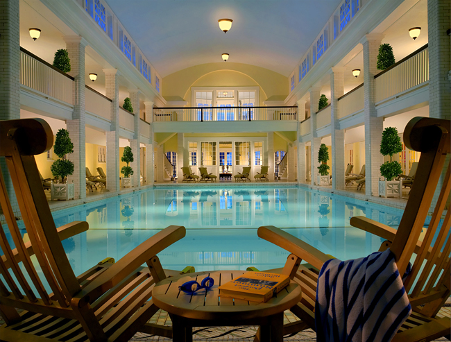 Omni Bedford Spring Resort's Indoor Pool.