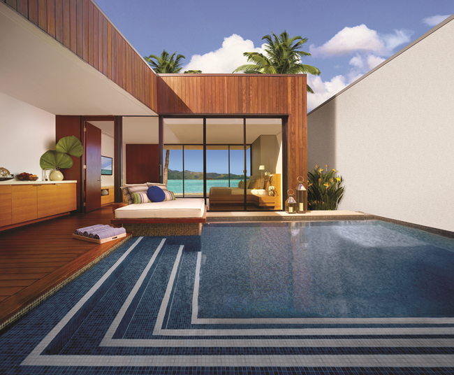 One of the new beach villas at One&Only Hayman Island. (Photo courtesy of One&Only Resorts.)