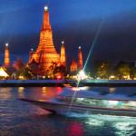 Bangkok's Temple of Dawn (Wat Arun) at twilight.