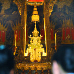The Emerald Buddha, a tiny jade sculpture considered Thailand's holiest relic, is housed in a special temple within the Grand Palace. The king pays homage to the statue twice each year amid much fanfare and pomp.