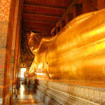 The reclining Golden Buddha, a gigantic figure covered with 24 karat gold leaf, is one of Thailand's most revered sacred images.