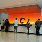 The lobby at the Chatrium Hotel on the banks of Bangkok's Chao Phraya River.