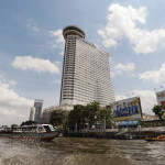 The Millenium Hilton as seen from the Chao Phraya River.