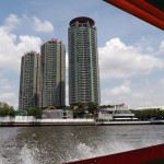 The Chatrium Hotel and Condominiums as seen from the river.
