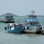 Lomprayah pier on Koh Samui Island with Madsum Island in the background. Lomprayah serves as departure point for The Treasure, a new resort on Madsum famed for its privacy and remoteness.