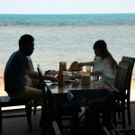 Dining on the veranda at Sabienglae Restaurant, a modest Koh Samui waterfront eatery lauded for its delicious and fresh seafood.