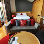 A standard room at the W, one of Koh Samui's most modern and luxurious properties.