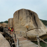Huge rock formations on Koh Tao, a former penal colony connected to two lesser islands near Koh Samui.