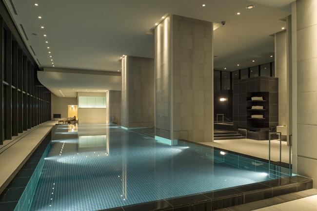 Andaz Tokyo's AO Spa pool.