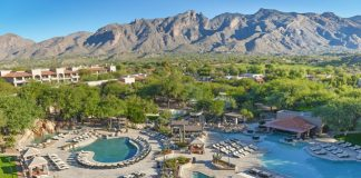 Birds-eye view of the pools at the Westin La Paloma.