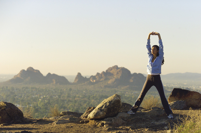 Active travelers can take part in the Sanctuary on Camelback Mountain's training packages.