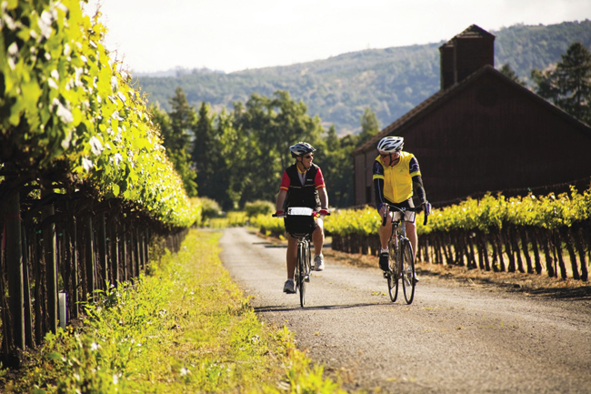 Backroads pairs wine and biking through California's wine country.