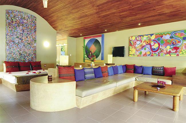 Beachfront Villa accommodations.