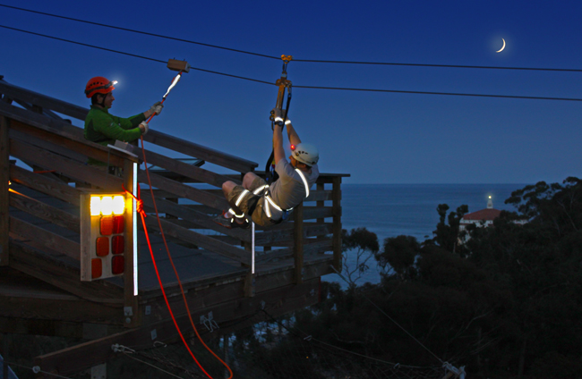 Catalina Island Zip Lining Eco Tour.