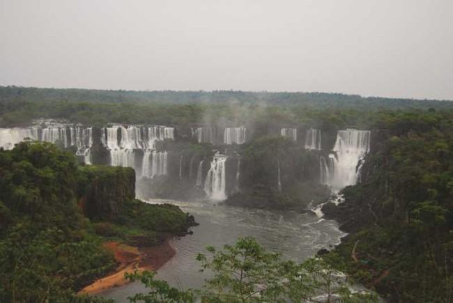 Iguassu Falls in Brazil.