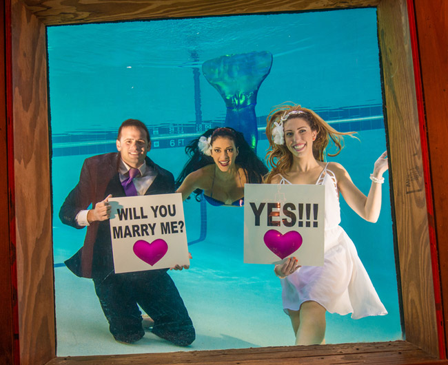 Underwater mermaid weddings at the Sheraton Fort Lauderdale Beach Hotel.