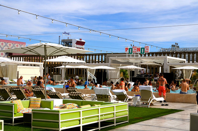 PICNIC rooftop pool at the Grand Las Vegas Hotel and Casino.