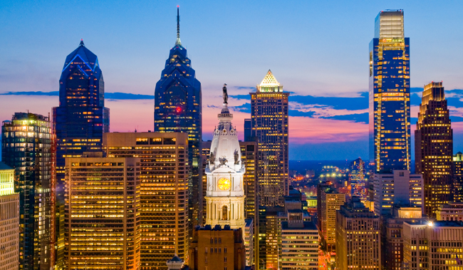 Philadelphia Skyline (Photo by B. Krist for GPTMC.)