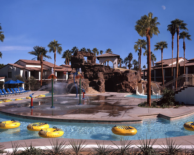Omni Rancho Las Palmas in Palm Springs' Splashtopia water park.