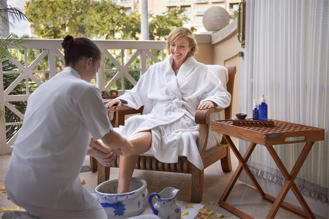 The Themae Welcome Ritual at the Turnberry Isle Spa.