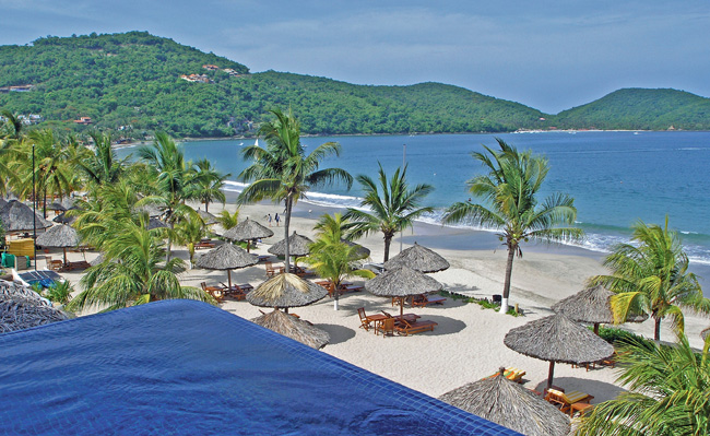 Experience authentic Mexican fare on the beach at Viceroy Zihuatanejo.
