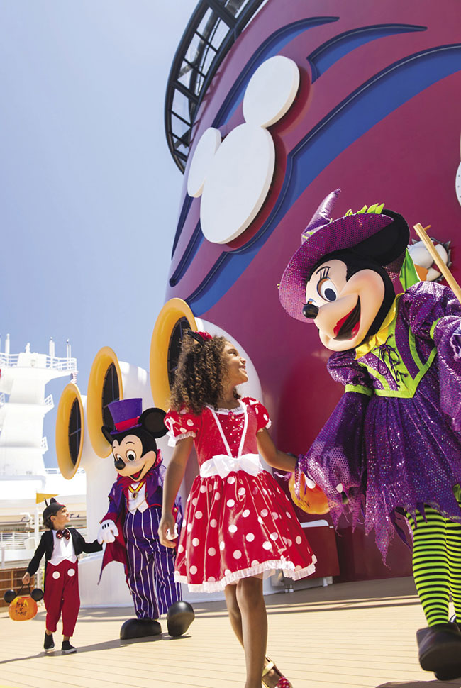 You can recommend families spend Halloween on board a Disney cruise.