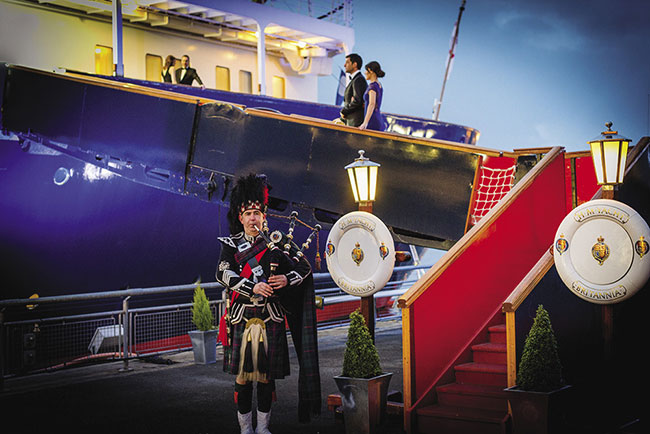 The Royal Yacht Britannia is featured on the A Taste of Scotland itinerary.