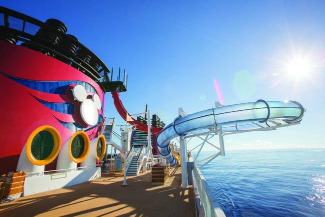 The AquaDunk on board Disney Magic.