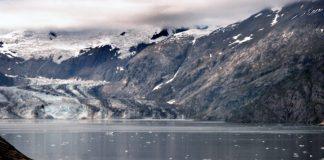 Sightseeing vessel in a Glacier Bay fjord.