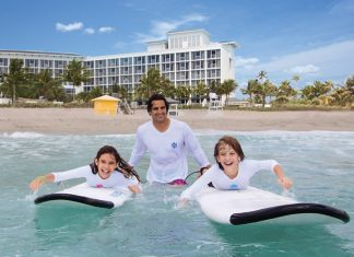 Little surfer dudes and dudettes can take part in Boca Raton Resort & Club's kids Surf Club.