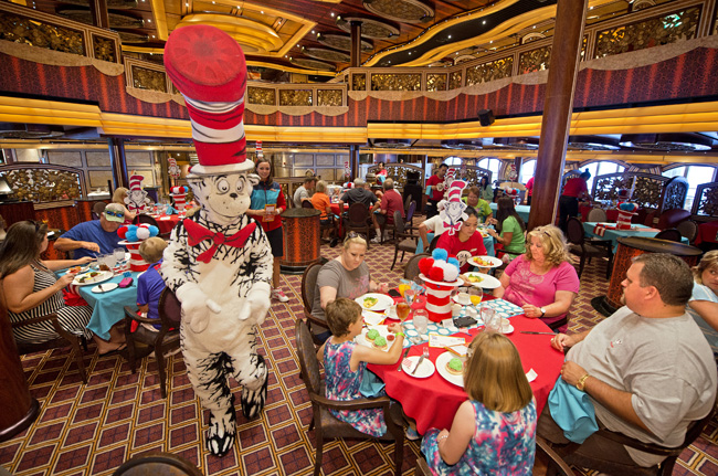 Carnival Cruise Lines offers Seuss at Sea with character breakfasts.
